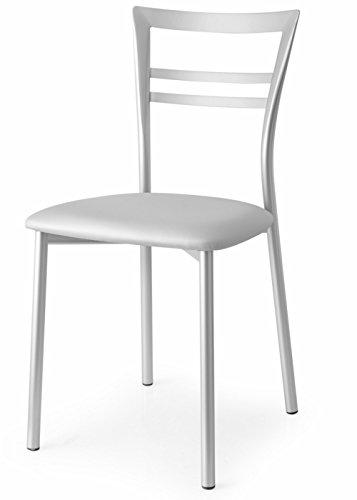 Connubia Sedia Go! CB/1419 Acciaio e Sono Alluminio Set 2 sedie