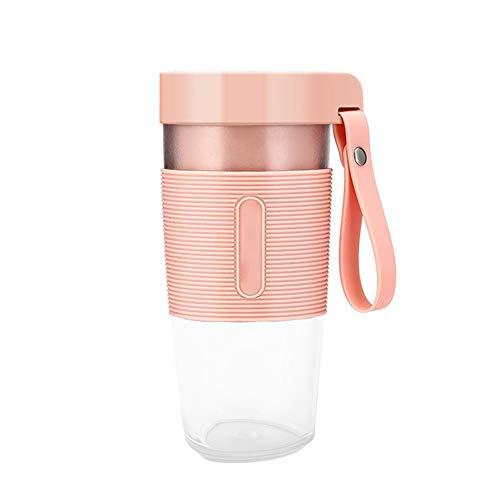 Yosemite Portable Blender,350ml Personal Blender USB Rechargeable Fruit Juicer Blender Juice Maker Cup Bottle with Two Blades,Mini,1400mAh for Travel Home Pink 7.4V