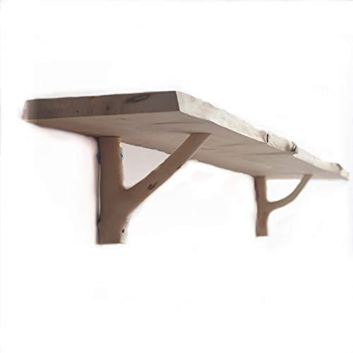 WWZWJ Zwevende plank Wandrek, houten scheidingswand van cipres, boekenplank bevestigd aan de muur, de muur van achtergronddecoratie, geschikt voor de woonkamer/keuken/toilet