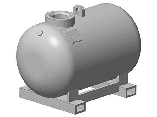 modellbahn-exklusiv Kraftstoffcontainer KC 500-S mit Deckel und 2 Pumpenvarianten, Spur H0, 1:87