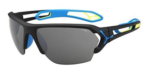 Cébé S'Track, Gafas de Sol, Negro mate / Azul, L