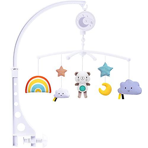 Amzeeniu Baby Mobile Giostra Musicale,Giostrina per Culla Neonato con Melodie,con Carillon e Graziosi Animali per Neonati e Bambini