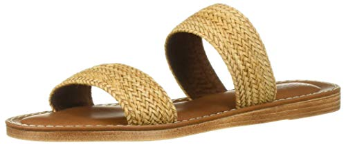 Bella Vita Women's IMO-Italy Slide Sandal Shoe, Natural Woven, 9.5 W US