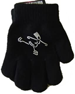 Amazon Com Jenskates Llc Skater Girl Logo Skate Gloves Black Sports Outdoors
