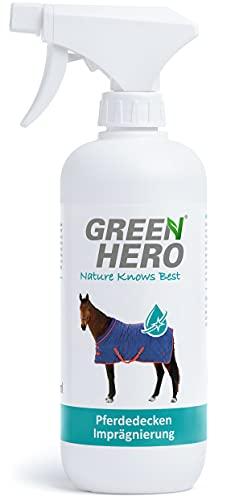 Green Hero Spray imperméabilisant pour couvertures de chevaux - Sans gaz propulseur - Nano-scellant efficace contre la saleté et l'humidité - 500 ml