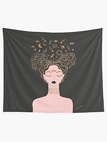 KHKJ Tapiz de Pared Floral Rosa para niñas, Tapiz Colgante Boho, decoración del hogar, Sala de Estar, Dormitorio, Arte de Pared, decoración, Tela de Fondo A5 230x180cm