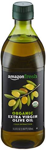AmazonFresh Organic Extra Virgin Olive Oil, 16.9 fl oz (500mL)