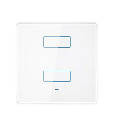 Interruptor de luz inteligente con WiFi táctil y mando a distancia inalámbrico Alexa Echo WiFi Smart Home LED Smart Life / Tuya y compatible con Alexa Echo, Google Home