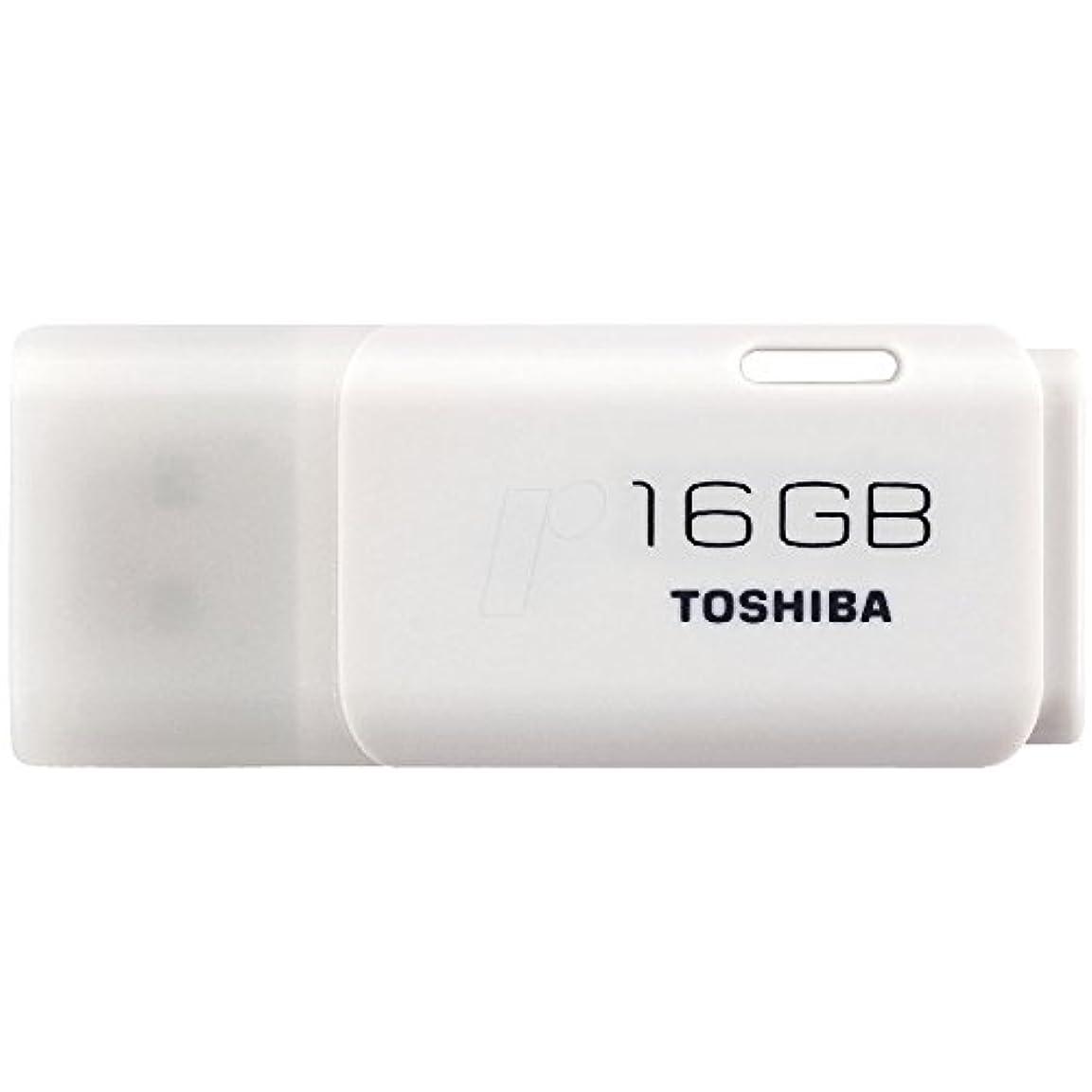 郊外祈るパーセント16GB TOSHIBA 東芝 USBメモリー TransMemory USB2.0対応 キャップ式 ホワイト 海外リテール THN-U202W0160A4 [並行輸入品]