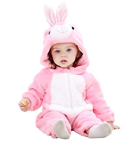 Pyjamon-Kostüm Rosa Mädchen ohne Fleece Füße, geeignet auch als Kostüm oder Warmer Karneval Tg 90 cm Kostüm für Kleidung Weihnachten