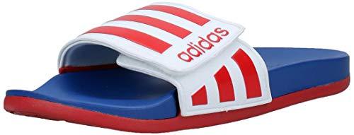 adidas Herren Adilette Comfort ADJ Fußballschuh, Ftwbla/Escarl/Azurea, 32 EU