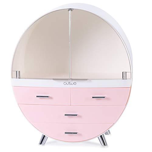 HOODIE make-up-opbergzakje, stofdicht, waterdicht, transparant cosmetica-opbergdoos met deksel, grote capaciteits-desktop-kapcommode, huidverzorgingsrek
