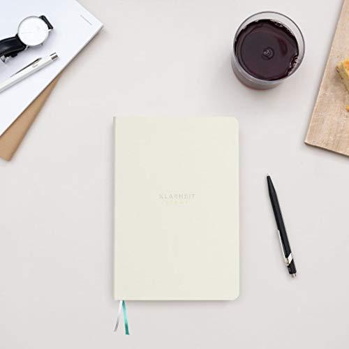 KLARHEIT LIGHT Terminkalender, undatiert mit 53 Wochen, mit Coaching-Heft für Selbst-Reflexion, Termin-Planer, Jahres-Kalender, A5, weiß