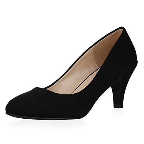SCARPE VITA Damen Klassische Pumps Stiletto Elegante Abendschuhe Klassische Party Schuhe 195678 Schwarz 38
