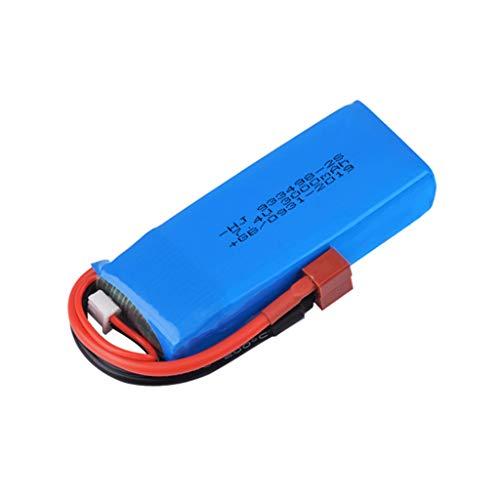 N / N Jasinto 7.4V 3000mAh 2S Lipo Akku Batterie mit Stecker Kompatibel mit WLtoys 144001 1/14 4WD RC Car Truck LKW Buggy Crawler, Wiederaufladbarer RC Auto Batterien Ersatzakku Akkupack