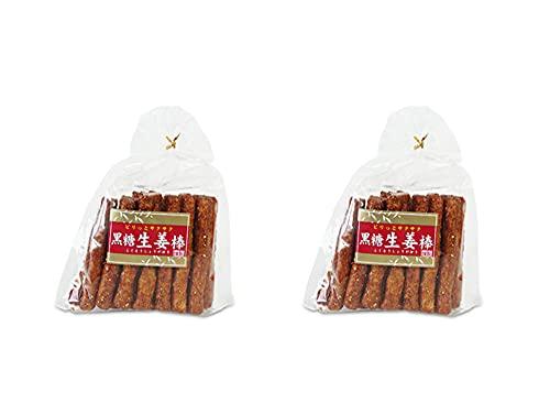 黒糖生姜棒20本×2袋(黒砂糖とショウガのスナック菓子)棒菓子 しょうがのおかし(こくとうスナック)おやつやお茶請けに(ぴりっとサクサク)ジンジャースナック