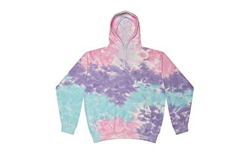 Colortone Tie Dye Hoodie SM Cotton Candy