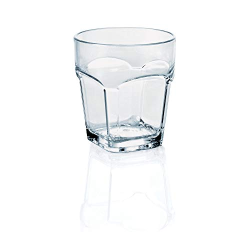 WAS 9451 030 Enjoy borosilicaatglas dubbelwandig polycarbonaat Xtra goedkoop whisky, 9,3 cm hoog, 0,3 l, 24 stuks