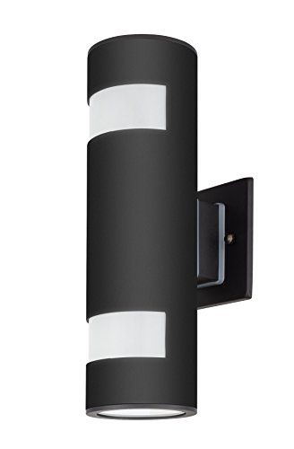 Outdoor Wall Lamp Modern Wall Sconce Outdoor Light Fixture Black Aluminum Material,Toughened Glass,E27,Waterproof,UL Listed Tengxin
