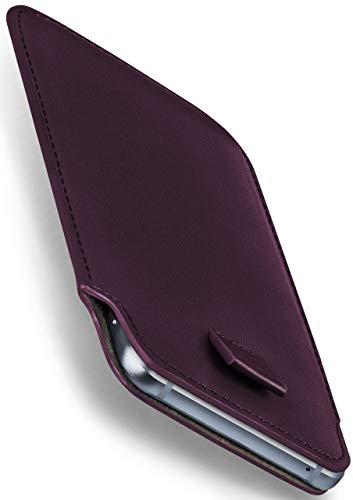 moex Emporia Flip Basic | Hülle Lila Sleeve Slide Cover Ultra-Slim Schutzhülle Dünn Handyhülle für Emporia Flip Basic Case Full Body Handytasche Kunst-Leder Tasche