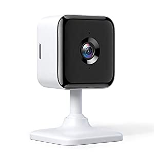 Teckin 1080P FHD Cámara de Vigilancia WiFi Interior, Visión Nocturna, Audio Bidireccional, Detección de Movimiento, Funciona con Alexa/Google Home, para Bebé/Mascota/Anciano, 1 unidades