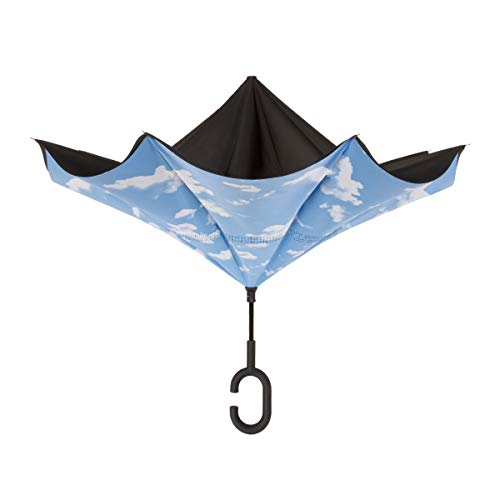 ShedRain UnbelievaBrella Fashion Print Reverse Umbrella: Clouds