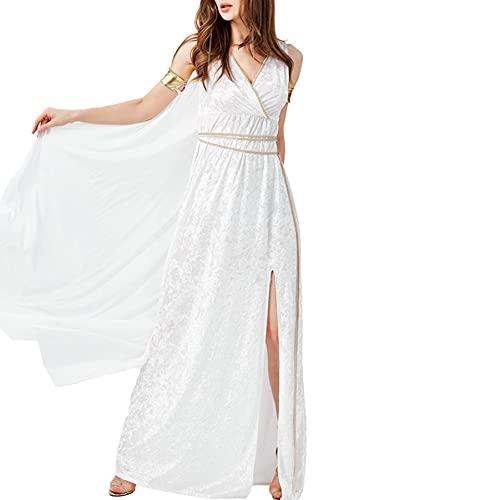AUUUNN Disfraz de Diosa para Mujer, Juego de Roles, mitologa Griega Romana Antigua, Fiesta, Halloween, Cosplay, Vestidos Sexis