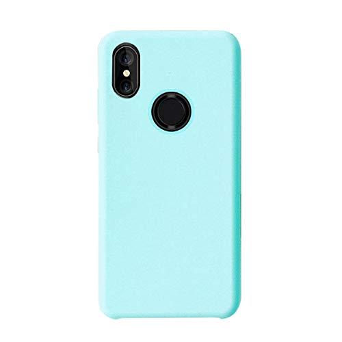 Funda Compatible con Xiaomi Mi MAX 3,Croachi Xiaomi Mi MAX 3 Carcasa Case Silicona Gel Cover TPU Protector Libro Transparente Antigolpes Ultra-Fina-Slim 360 Azul Bumper Suave Flexible