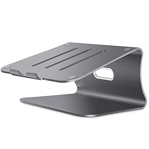 Unknows Desconocido Soporte para portátil Levantar computadora Escritorio Base de aleación de Aluminio Disipación de Calor Soporte Antideslizante Soportes para portátil