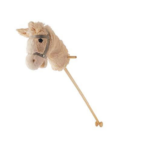 Bieco Steckenpferd Sammy beige ca. 102 cm mit Plüschkopf 74000013