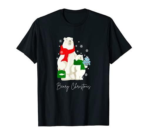 Bear-y Christmas | Cute Xmas Polar Bears | Christmas Bear T-Shirt