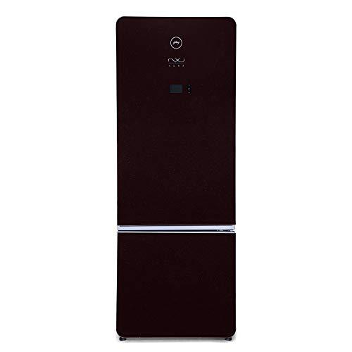 Godrej 430 L 3 Star ( 2019 ) Inverter Frost-Free Double Door Refrigerator (R B NXW AURA 445MDI 3.4 RB WIN, Ruby Wine, Bottom...