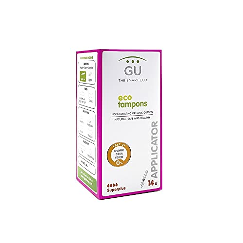 Tampones de algodón ecológico con aplicador biodegradable - Hipoalergénicos - Pieles sensibles (Súperplus)