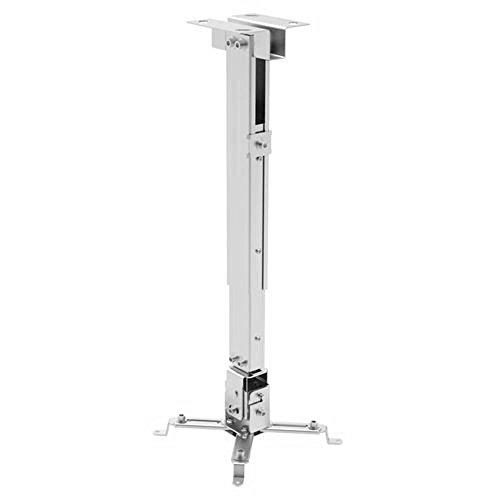 Ewent EW1530 - Supporto Universale Estensibile da Soffitto per Videoproiettore, min. 43 / max. 65 cm, Silver