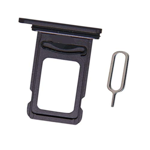 Draxlgon Dual SIM Card Tray Holder Slot Adapter Compatible with iPhone 12 6.1inch (Black) +Eject Pin
