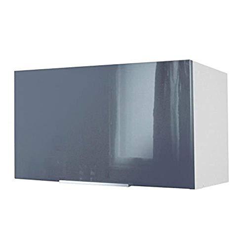 Berlioz Creations CH6HG Küchenschrank unter Haube Hochglanz Grau 60 x 34 x 35 cm