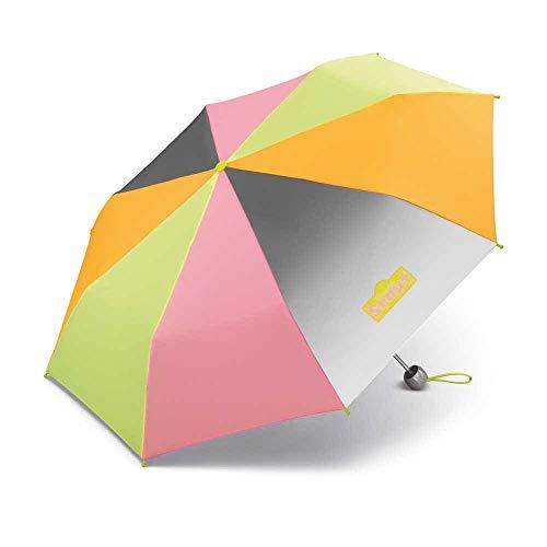Scout Kinder Regenschirm Taschenschirm Schultaschenschirm mit großen Reflektionsflächen und kräftigen Farben extra leicht Safety