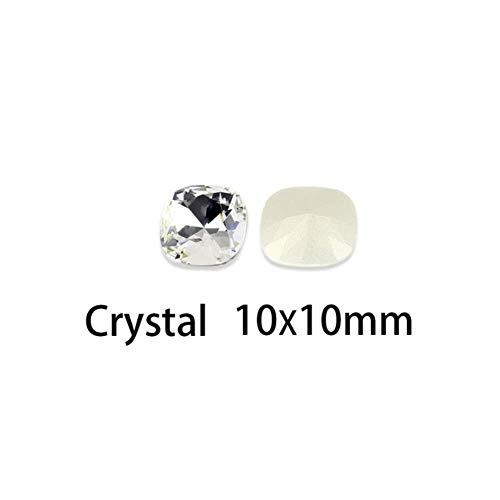 100 pcs Cristaux Strass verre K9 lâche Strass paillettes ongles art strass Pointback pierres pour les ongles couture vêtements, 101,10mm