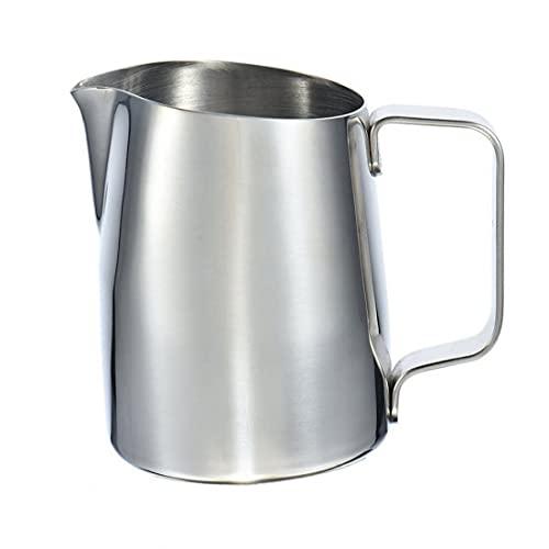 Eaarliyam Leche espumejea Jarra de espumado de Las jarras de Acero Inoxidable de Vapor del café Los lanzadores Jarra de Leche Copa (450 ml)