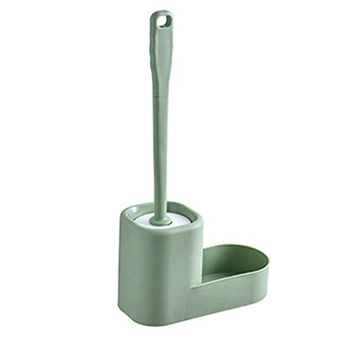 Guuisad Cepillo de inodoro para el baño, titular del cepillo de inodoro Conjunto de cepillos de inodoro, herramientas de limpieza de manos domésticas, cepillos de inodoro y estantes de almacenamiento,