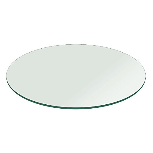48' Inch Round Glass Table Top 1/4' Thick Flat Polish Edge Tempered by Fab Glass and Mirror