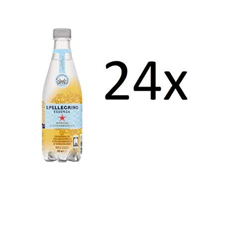 24 Flaschen San Pellegrino Essenza Zitrone & Zitronenzeste a 500ml inc. EINWEG Pfand PET Flasche