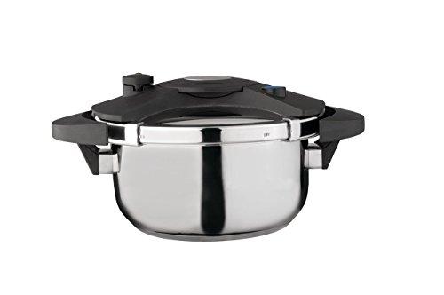 """Berghoff Eclipse Pressure Cooker 8.5"""" 4L, Silver/Black"""