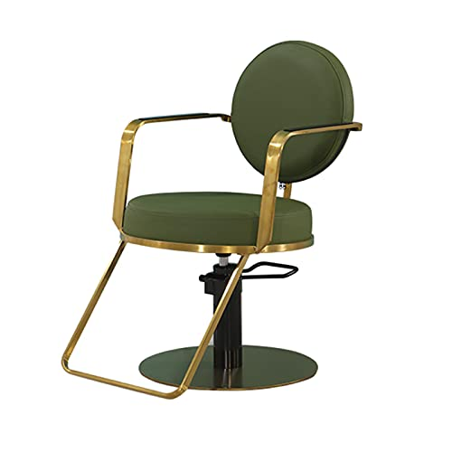 FLAMY Silla de peluquería, silla de salón, silla giratoria de la bomba hidráulica, para el equipo del salón de peluquería, negro, gris