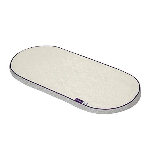 Clevamama ClevaFoam Schaumstoff Matratze für Korb und Kinderwagen 74x30 cm - Weiß