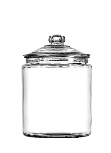 Anchor Hocking Heritage Hill Glass 0.5 Gallon Storage Jar, half gallon