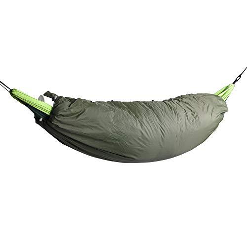 PPPERT Hangmat Outdoor holle katoen hangmat Camping slaapzak herfst en winter vissen draagbare isolatie afdekking inkt groen, 200 x 75 cm,  gewicht 100 kg