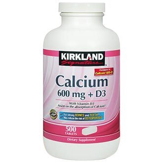 Kirkland Calcium With Vitamin D3 600mg 500tablets by Kirkland Signature