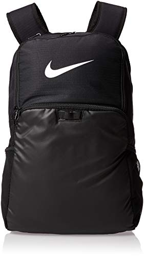 NIKE Brasilia XLarge Backpack 9.0, Black/Black/White, Misc