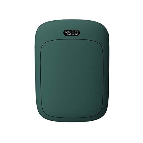 Calentadores De Manos Recargables 2 En 1, Calentador De Manos Eléctrico USB Portátil, Bolsillo Calefactor De Doble Cara Con Control Inteligente De Temperatura, Banco De Energía Reu(Color:Verde oscuro)
